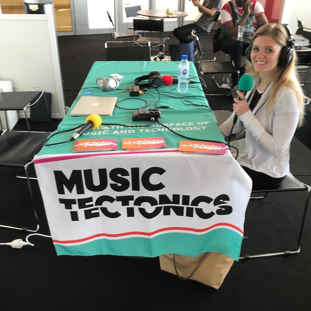 Chantal Epp of ClicknClear at the #MidemTectonics podcast spot.