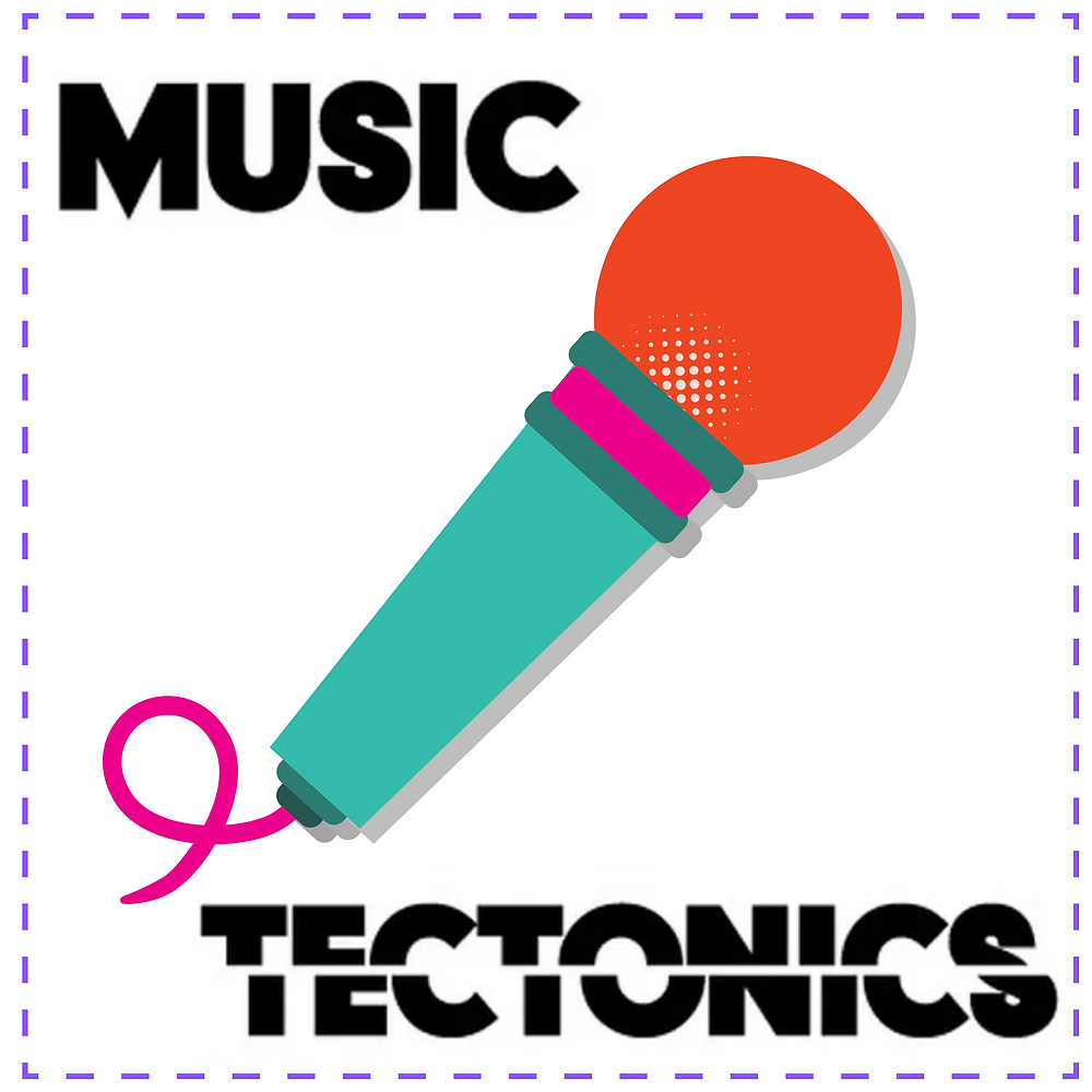 The Music Tectonics Podcast: image features a cartoon DJ controller.
