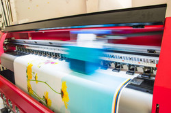Digital print to paper, vinyl and fabrics.