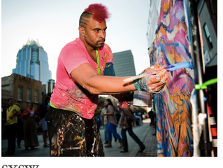 SXSW 2014: Painting live on world-reknown 6th st.