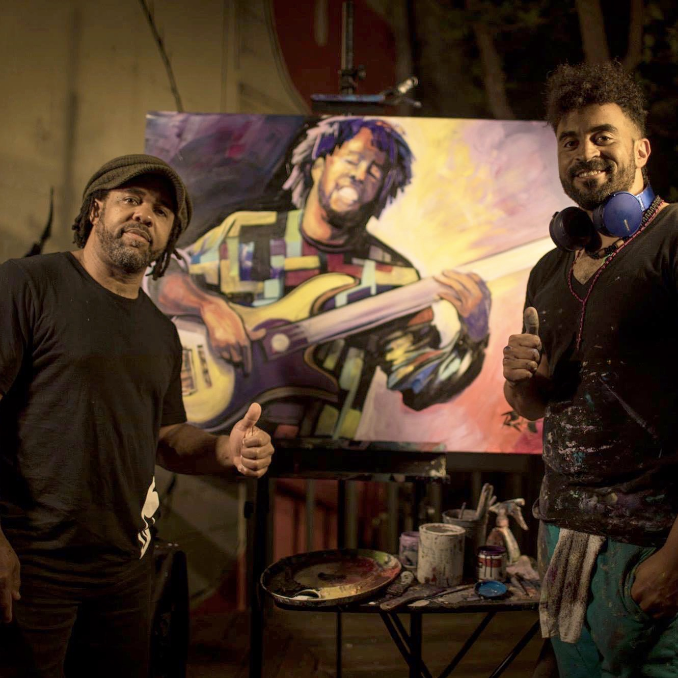 Painting @ Victor Wooten Concert