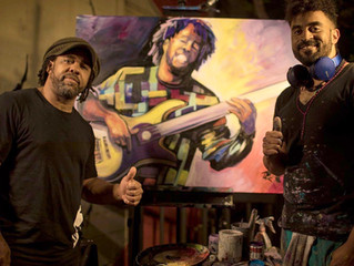 Chris Painting Live at Victor Wooten Concert at Empire Control Room, Austin,TX