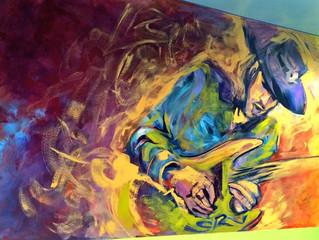 Stevie Ray Vaughn Mural Midtown Market, Austin, TX