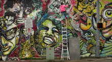 Romani Gallery Mural: Photoed by the Austin-American Statesman.