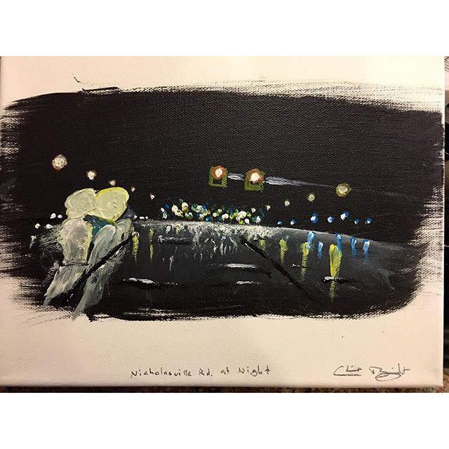 Nichlasville Rd. at Night