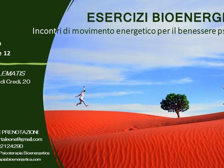ESERCIZI  BIOENERGETICI - Incontri di movimento energetico per il benessere psicofisico