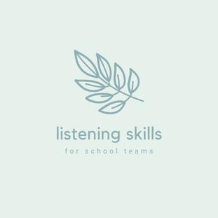 Listening skills for school staff