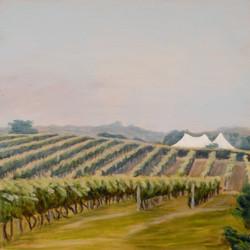 Tents in Vineyard 12x12 200914