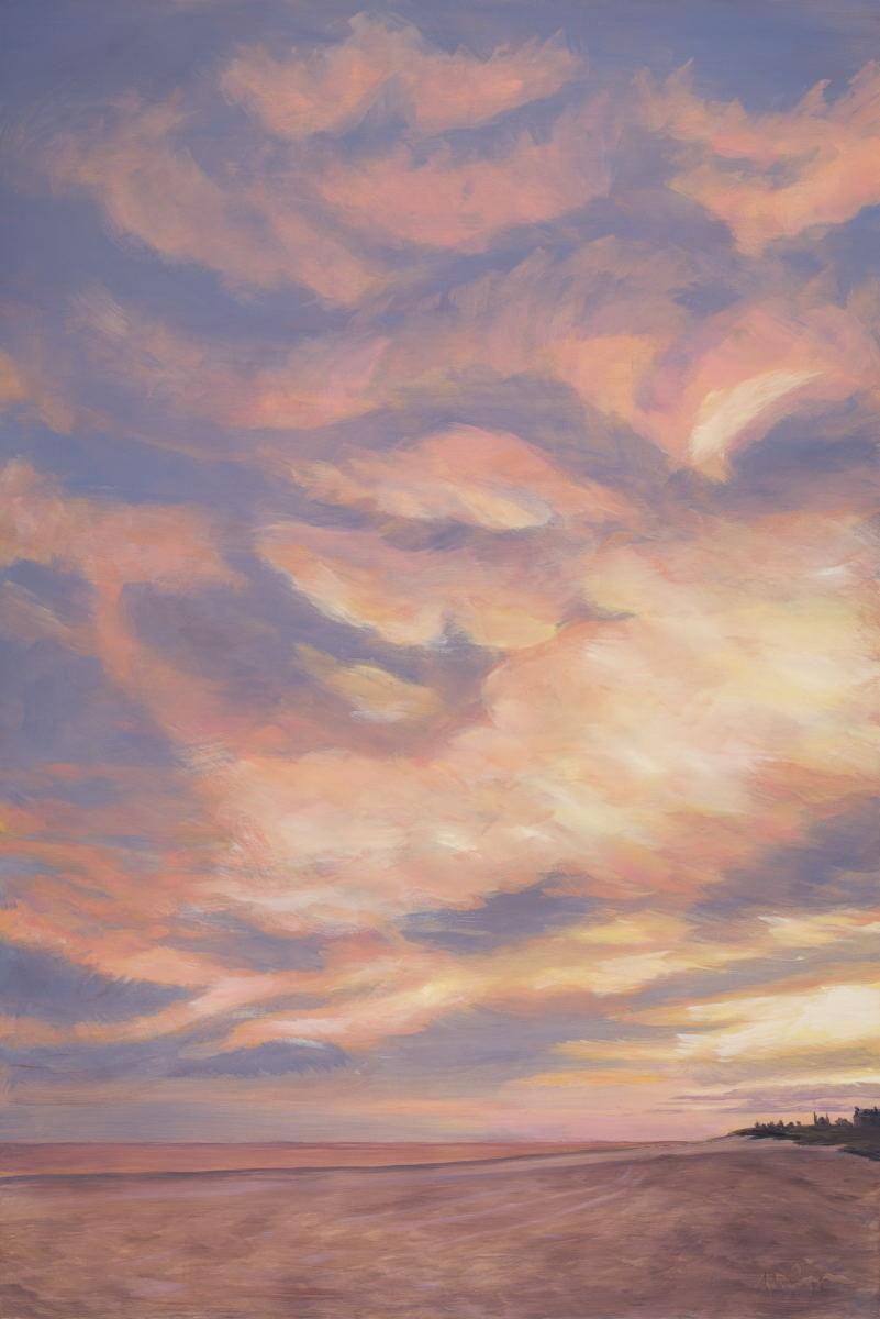 Motled Sky Orange 48x32 201605