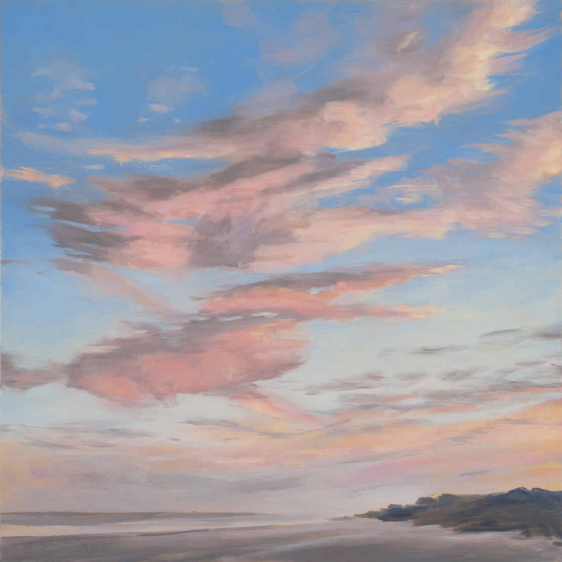 Pink Evening Clouds 20x20 201611