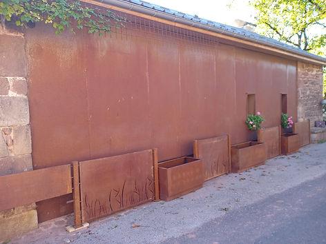 Façade de maison en acier corten Montpellier