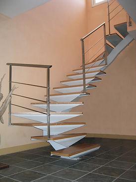 Fabrication d'escalier métallique et bois à Montpellier