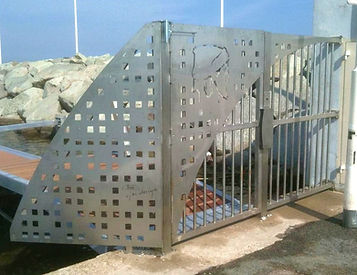Portail de ponton en inox Montpellier