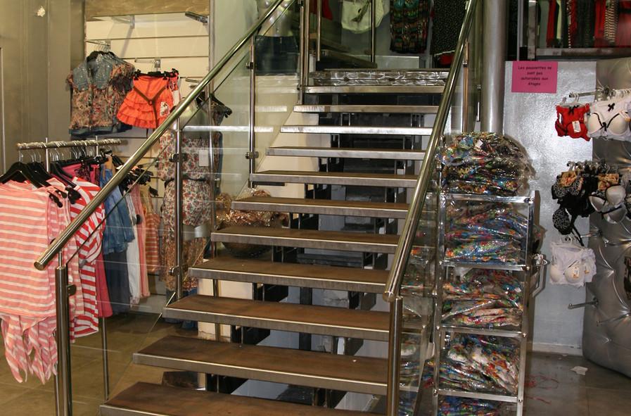 Rénovation d'escaliers pour ERP