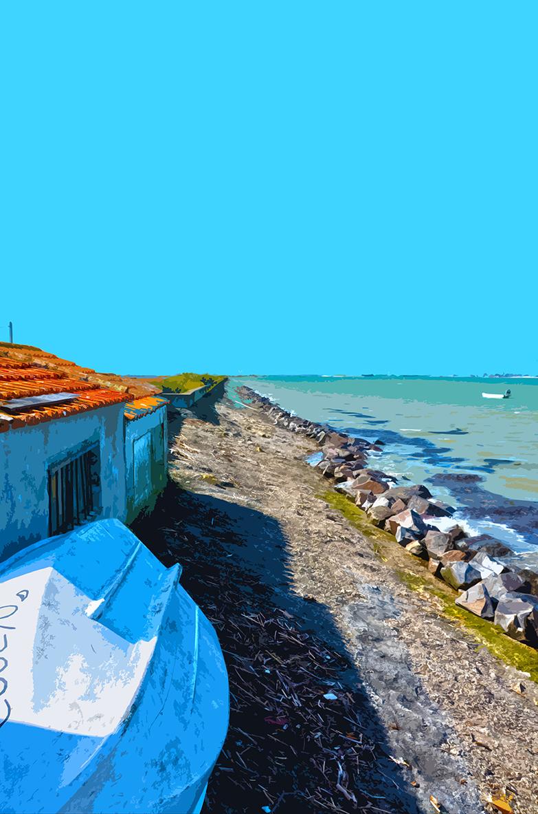 Bateau renversé - Port du Bonhomme