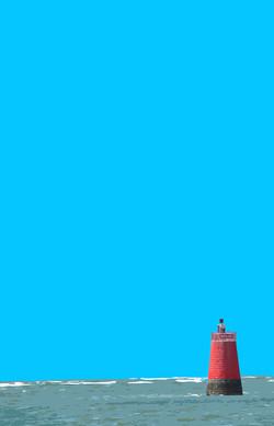 Bouée rouge verticale - La Fosse