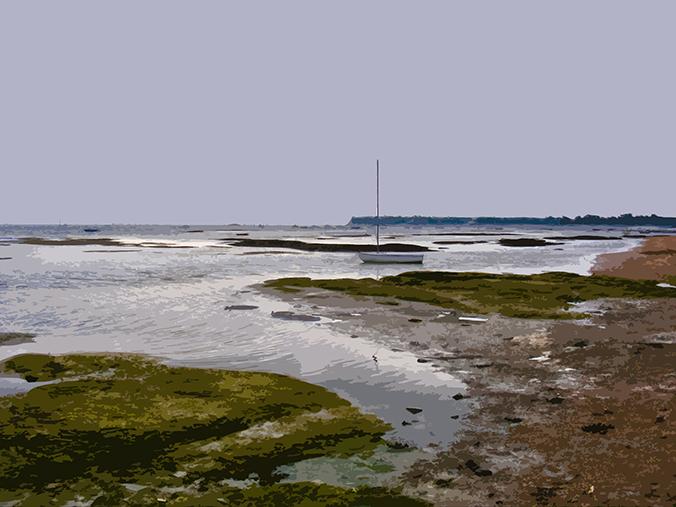 Bateau à marée basse – Le Vieil