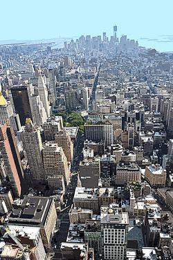 Building vue d'en haut – 3
