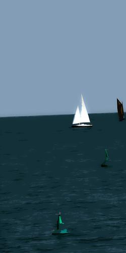 Bateau blanc et bateau noir