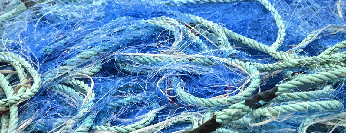 Filet bleu et cordage vert – 6