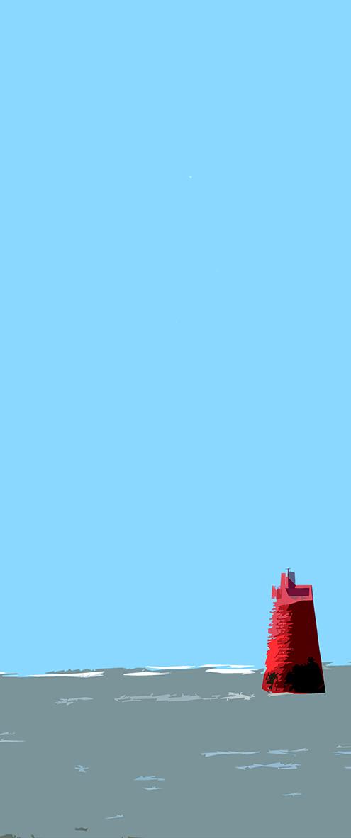 Bouée rouge - 2 - La Fosse