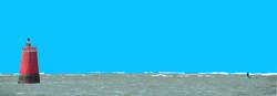 Bouée rouge et verte - La Fosse