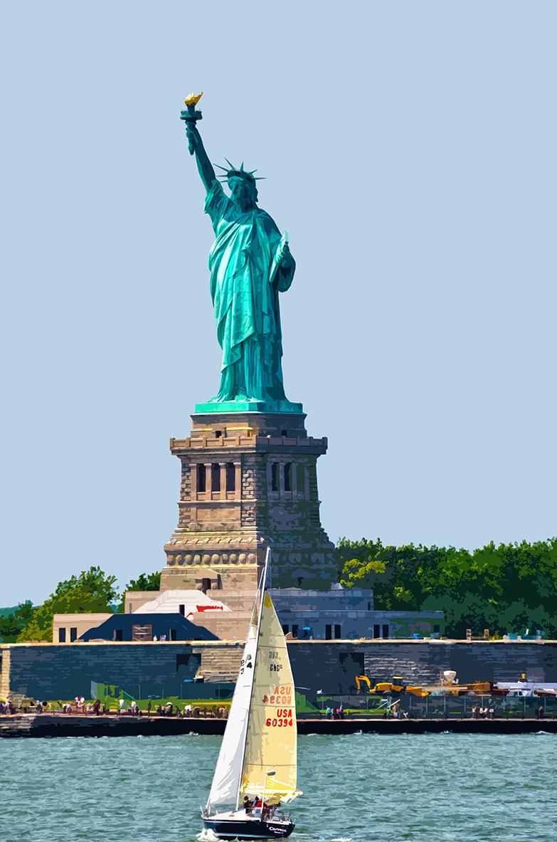 Liberté et voilier - Manhattan