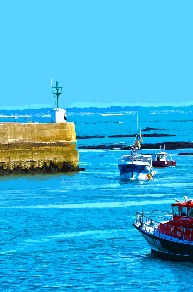 Bateaux rentrant au port