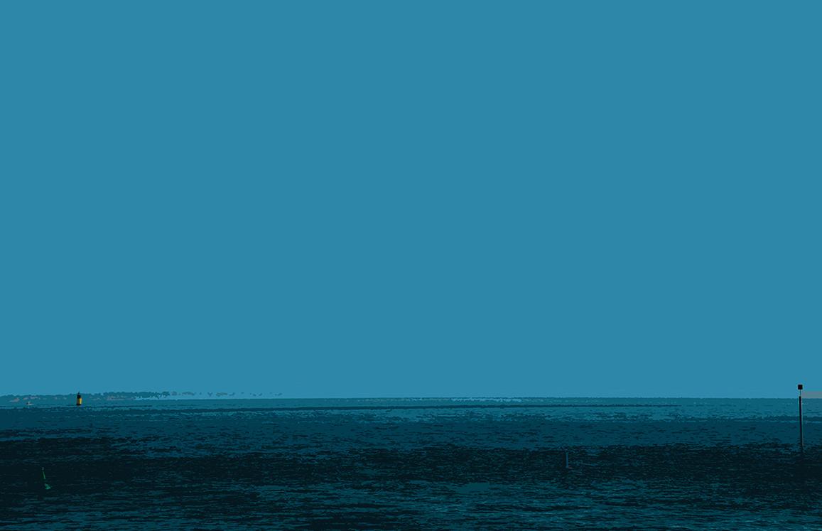Le bleu et la bouée jaune