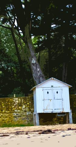 La cabine qui cache l'arbre