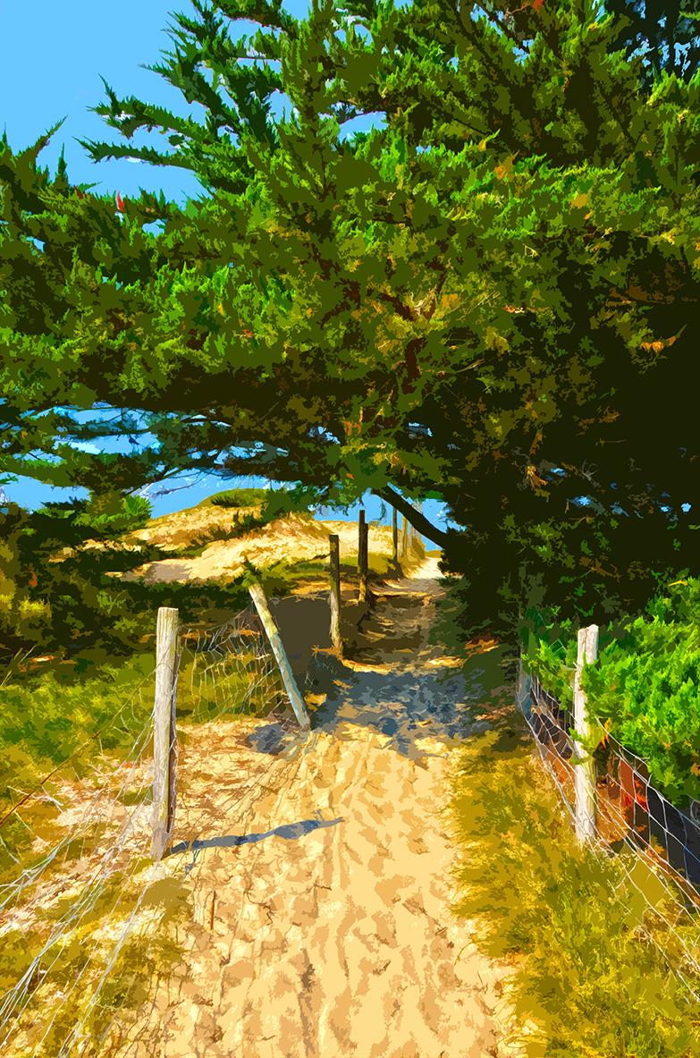 Montée sur la plage – 2 - Luzeronde
