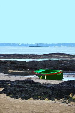 Bateau et île du Pilier