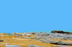Balise jaune et rocher – 2