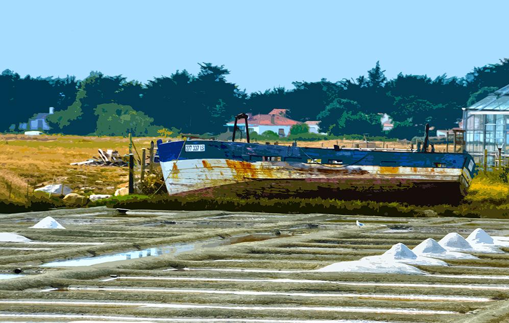 Sel et bateau - Marais salants - 2