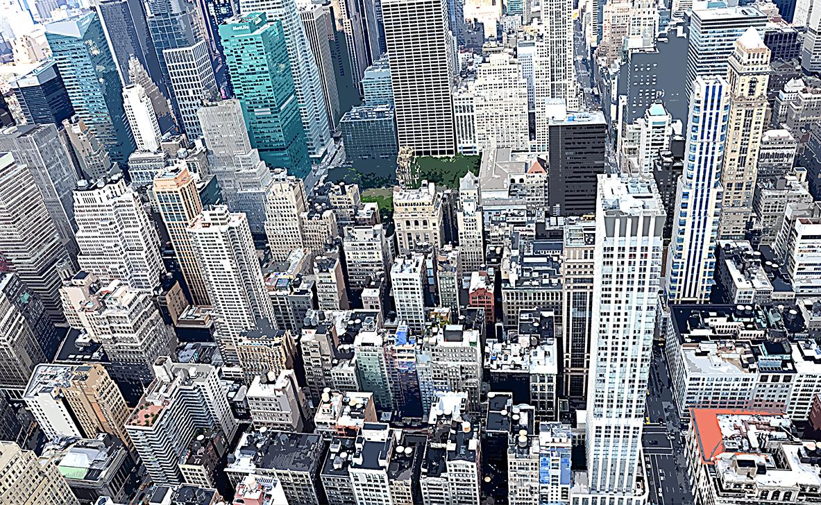 Vue de haut - 1 - Manhattan