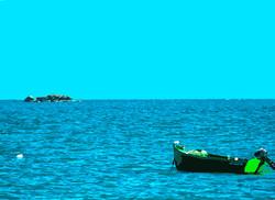Cob et bateau vert – Le Vieil