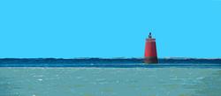 Bouée rouge horizontale - La Fosse