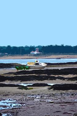 Bateaux à marée basse - Le Vieil