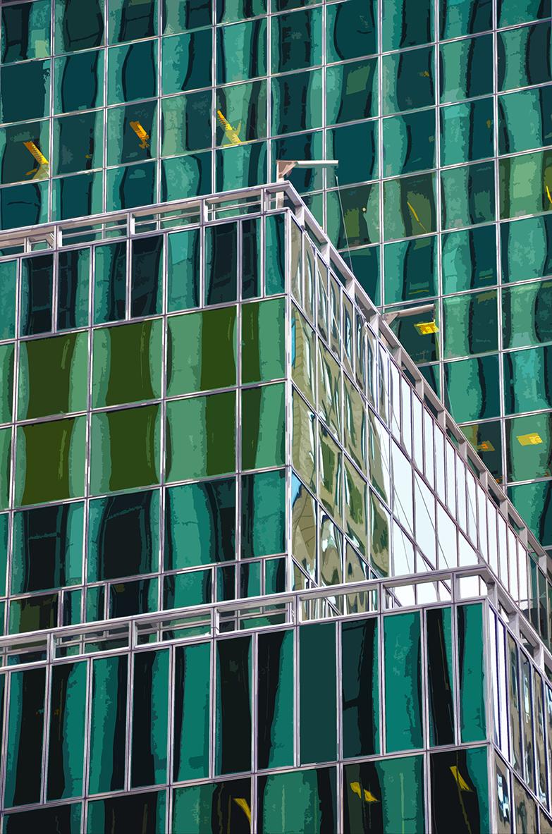 Reflets vert - Manhattan