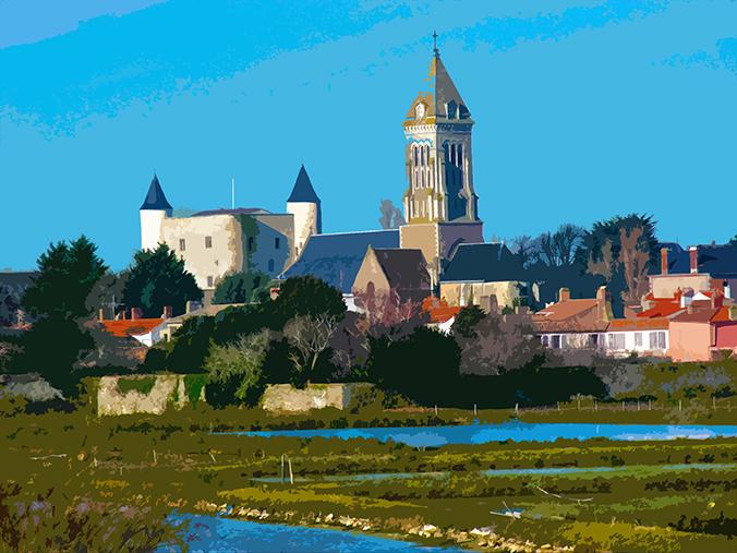 Chateau et l'église