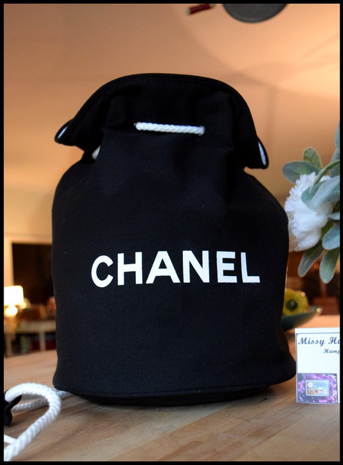 930819140486 Chanel Black VIP Backpack Duffle Travel Bag