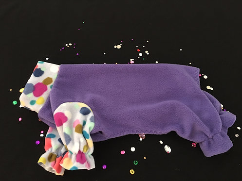 Fleece Dog Pajamas - Snuggly for Your IG - SMALL