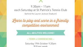 Saturday Morning Junior Tennis Competition