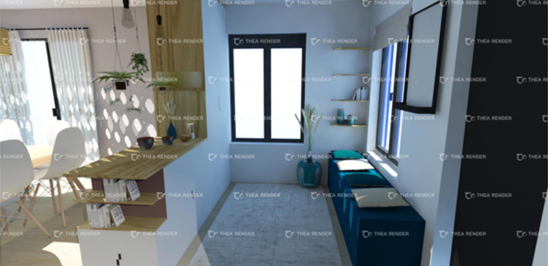 3D entrée, meuble sur mesure