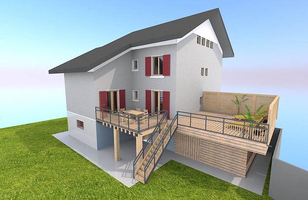 Déclaration préalable terrasse sur garag