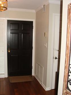 Front door refinished