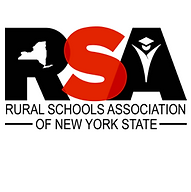 The logo for the Rural Schools Association consisting of a R an S and a A.