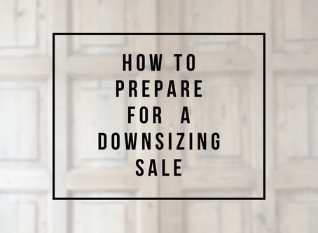 How to start preparing for a downsizing sale