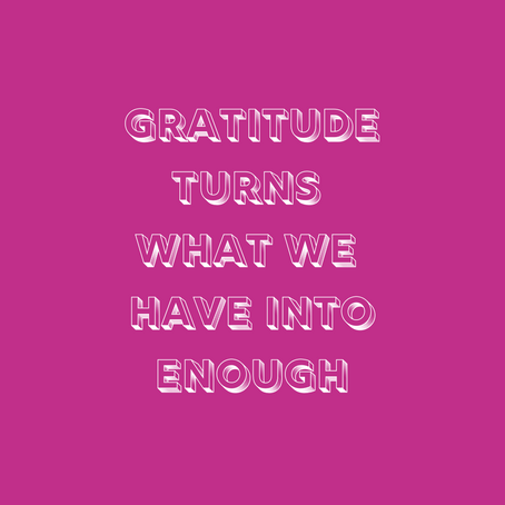 Reasons to be grateful...