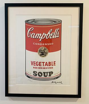 Campbells soup Warhol - most precious pi